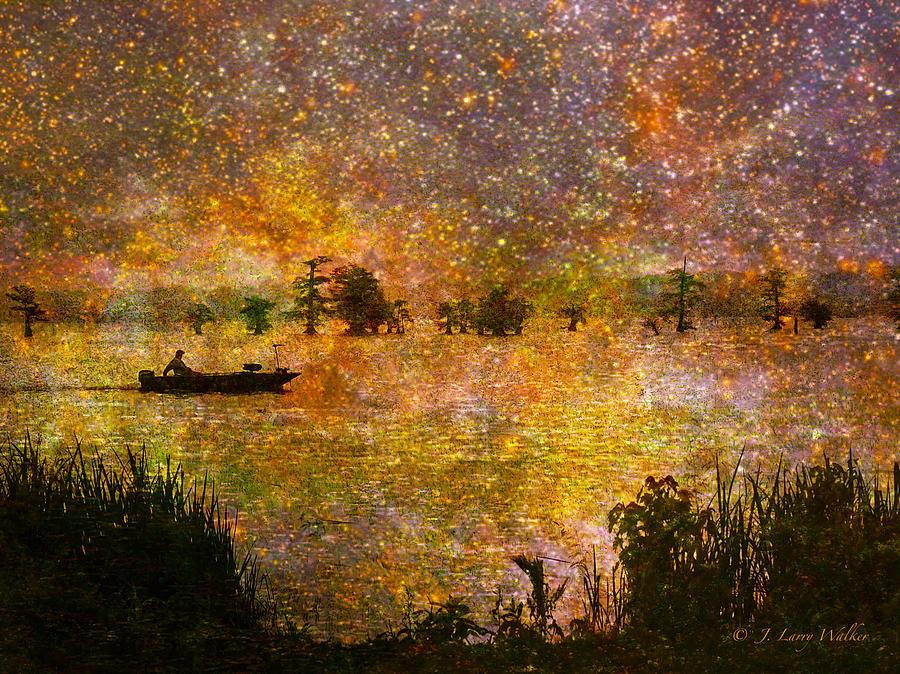 Walker Digital Art - Beyond The Reeds by J Larry Walker