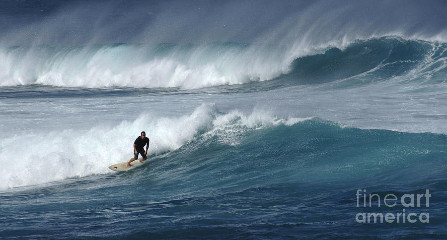 Surfing Photograph - Beyond The Reef by Bob Christopher