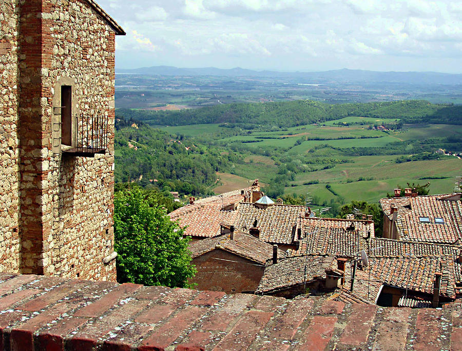 Tuscany Photograph - Beyond The Rooftops 1 by Ellen Henneke