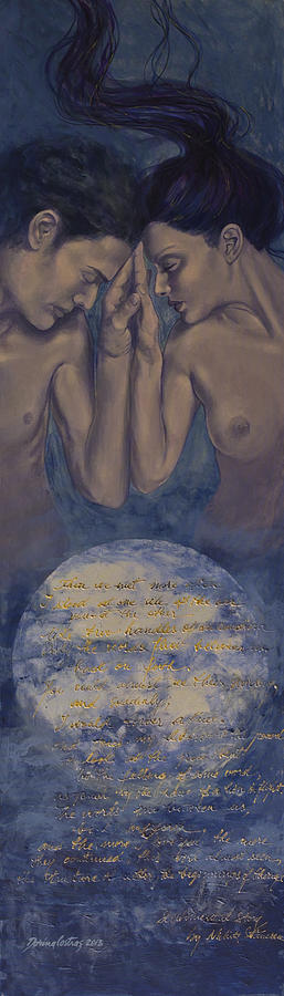 Fantasy Painting - Beyond The Universe by Dorina  Costras