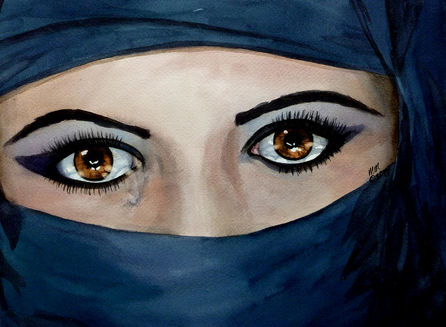 Jihad Painting - Beyond The Veil by Michal Madison