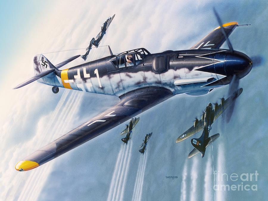 Bf-109 Digital Art - BF-109 Gustav by Stu Shepherd