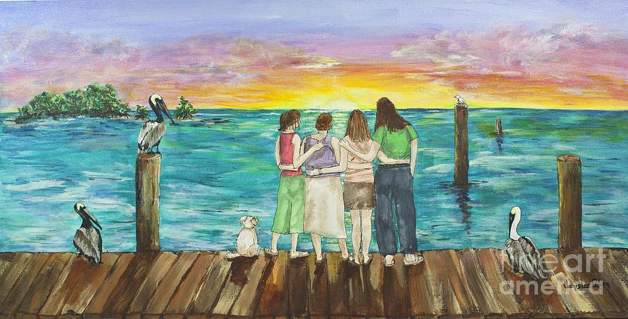 Florida Painting - Bff Morning by Janis Lee Colon