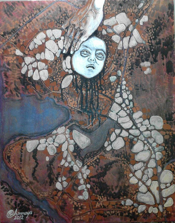 Bhopal Painting - Bhopal Disaster Series - Black Water by Chinmaya BR