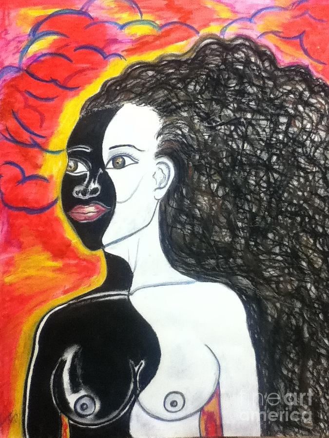 Woman Pastel - Bi-racial by Lewanda Laboy