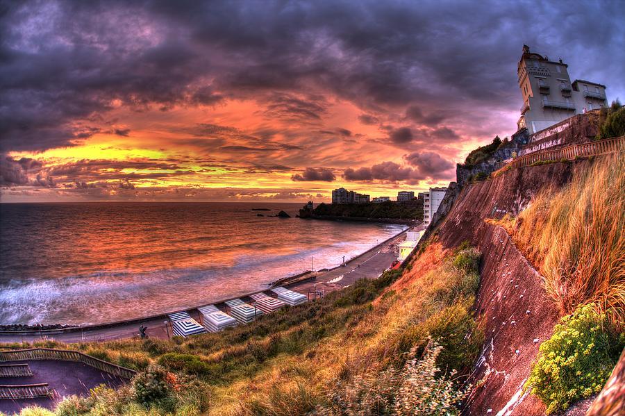 Ocean Photograph - Biarritz by Karim SAARI