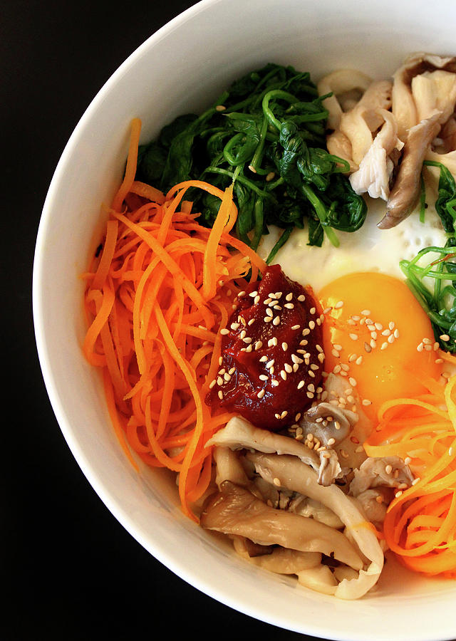 Bibimbap Photograph by Lea Lee