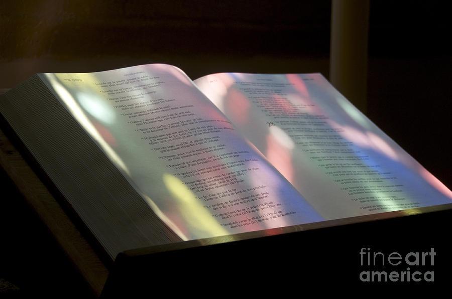 Spirituality Photograph - Bible by Bernard Jaubert