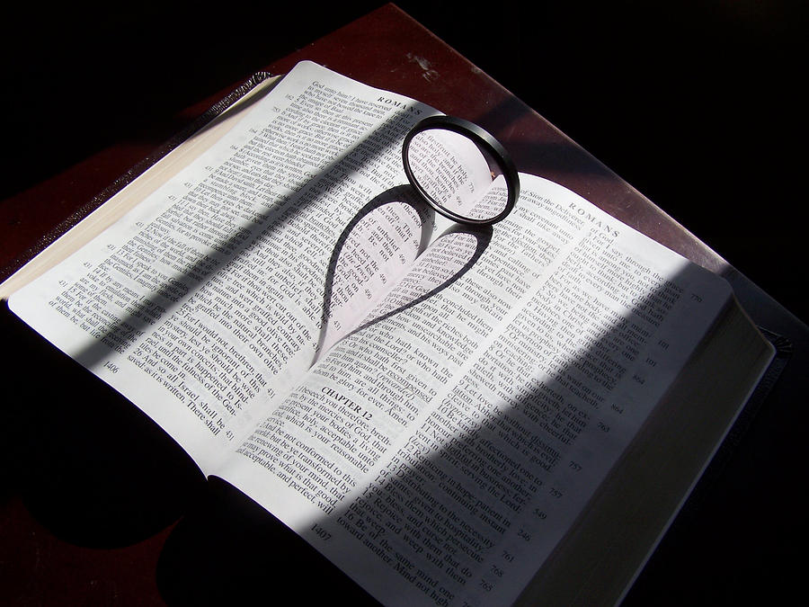 Bible Mixed Media - Bible Heart by Donnell Carr