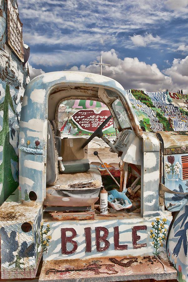 Bible Photograph - Bible Truck by Hugh Smith