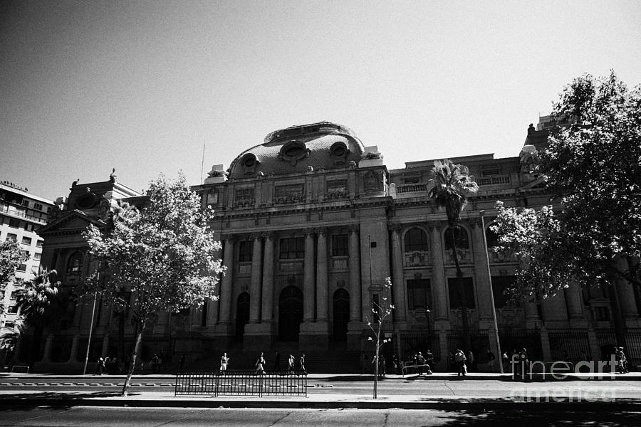 Nacional Photograph - biblioteca nacional de chile national library Santiago Chile by Joe Fox