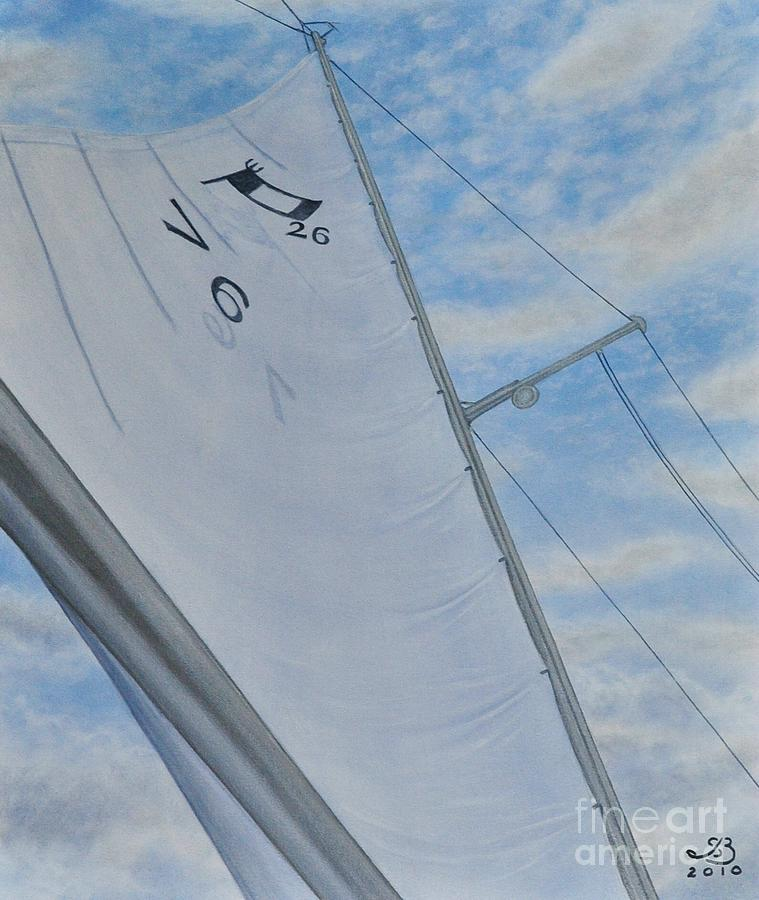 Sailing Painting - Bicentenial Sailing by J Barth