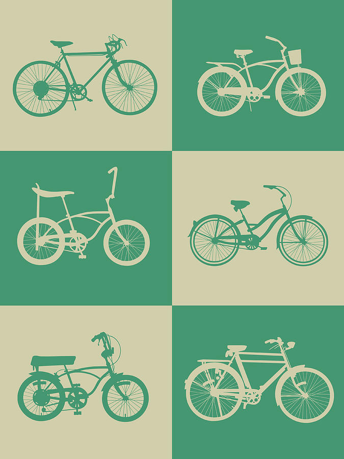 Bicycle Digital Art - Bicycle Collection Poster 4 by Naxart Studio