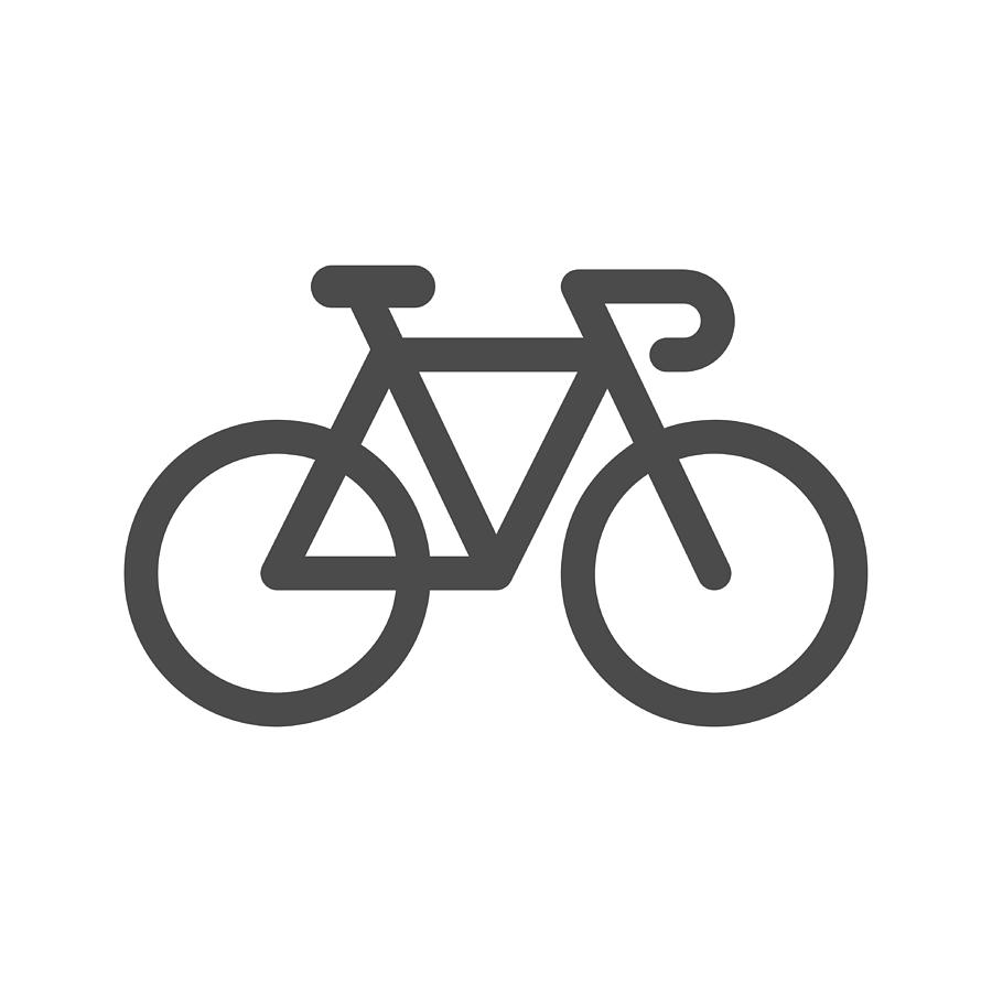 Bicycle Icon Drawing by Rakdee