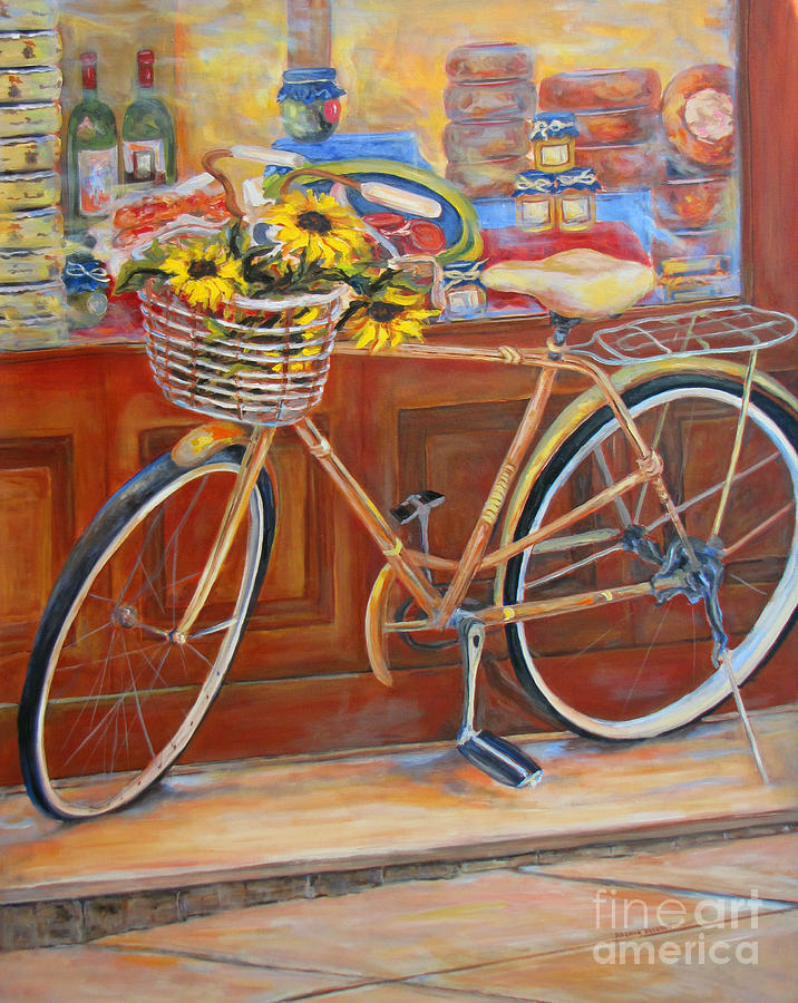 Bicycle Painting - Bicycle In Cortona by Brenda Brannon