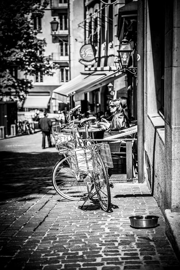 Bicycle Photograph - Bicycle In Geneva by Maria Fossler