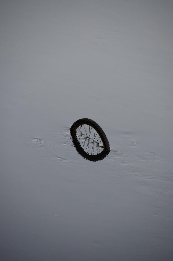 Bicycle Photograph - Bicycle In The River Liffey - Dublin Ireland by Bill Cannon
