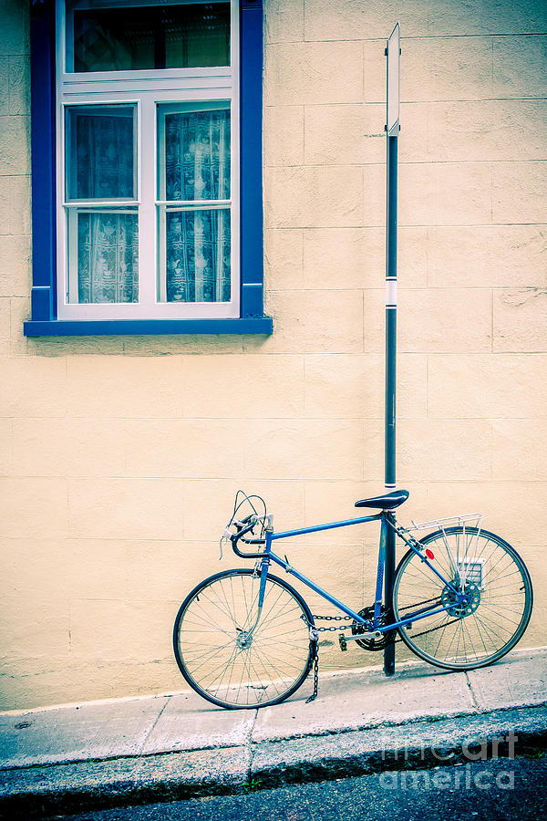 Bicycle On The Streets Of Old Quebec City Photograph