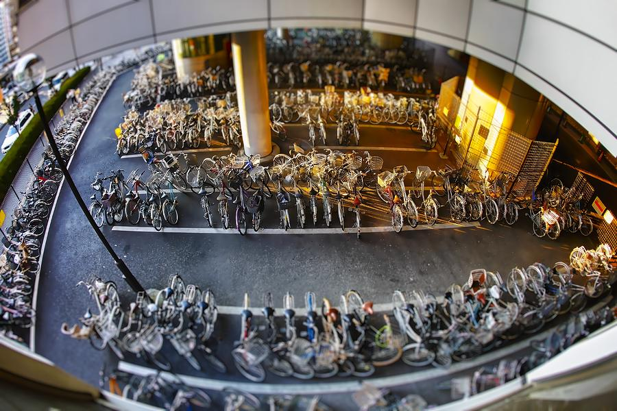 Japan Photograph - Bicycle Parking by Rscpics