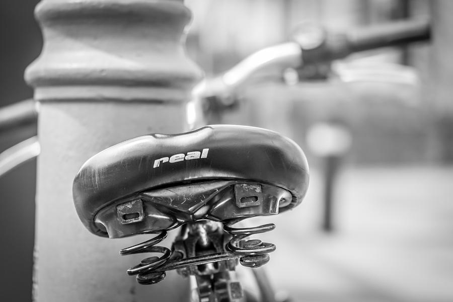 Bicycle Seat Photograph - Bicycle Seat.  by Gary Gillette