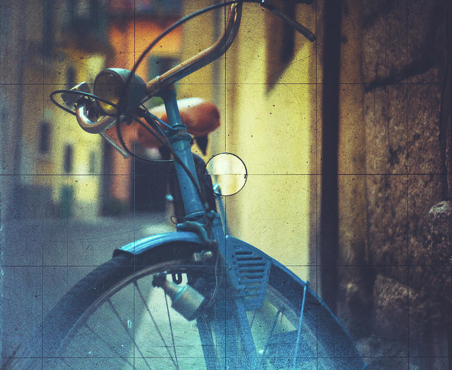 Bicycle Seen Through A Vintage Camera Photograph by Moreiso