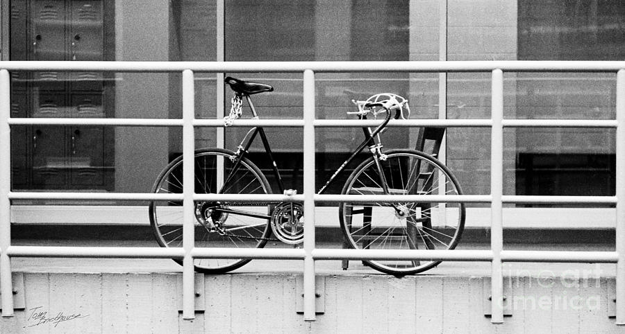 Bicycle with Chair and Railing by Tom Brickhouse