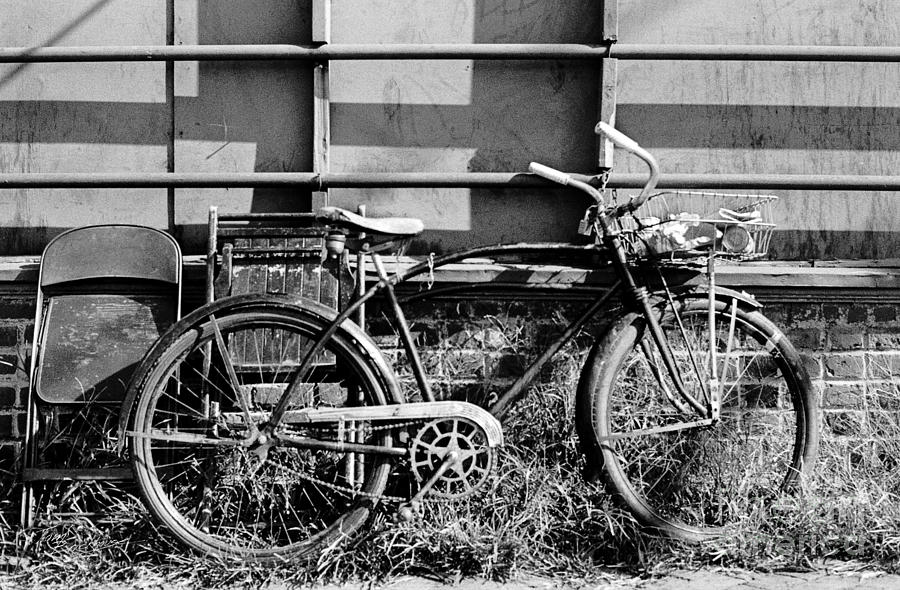 Bicycle with Two Chairs and Railing by Tom Brickhouse