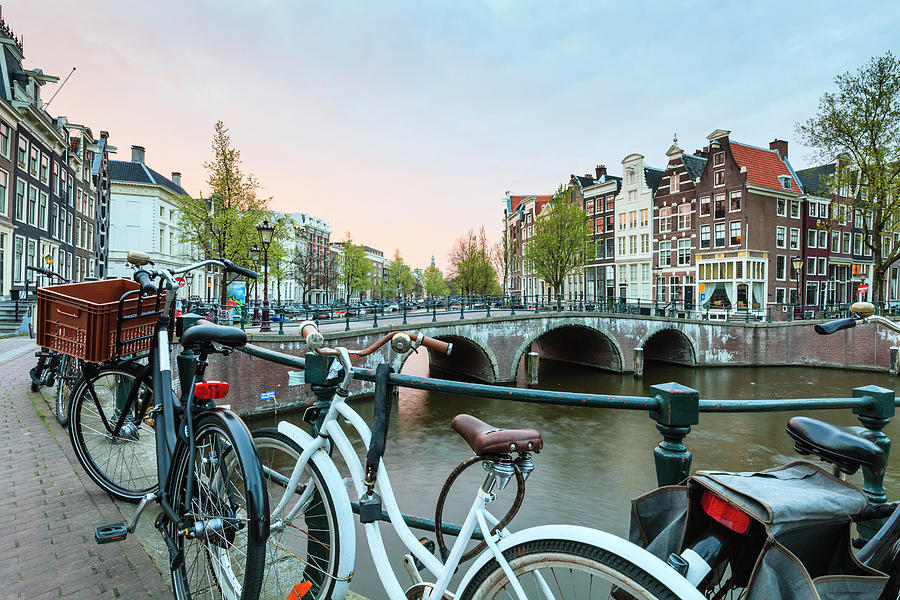 Bicycles, Amsterdam Photograph by Fraser Hall