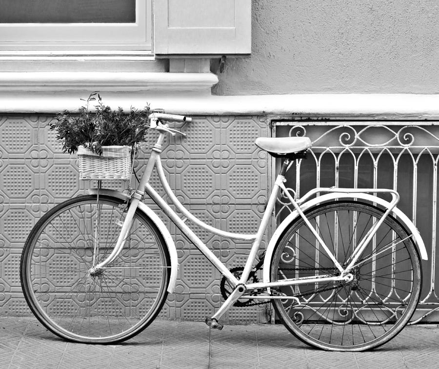 Vintage Bicycle Photography In Black And White Bicycles