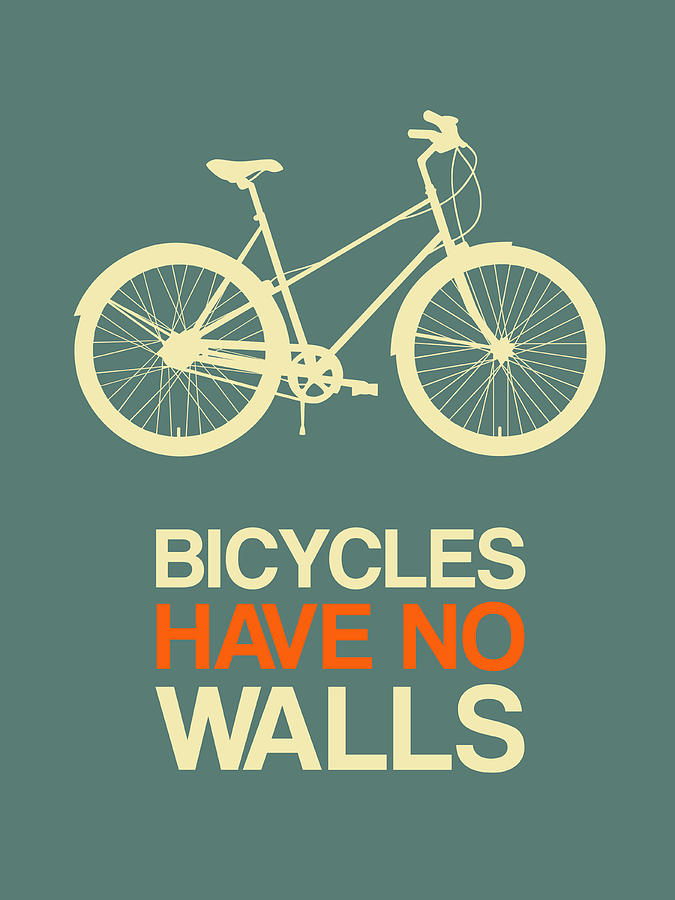 Bicycle Digital Art - Bicycles Have No Walls Poster 3 by Naxart Studio