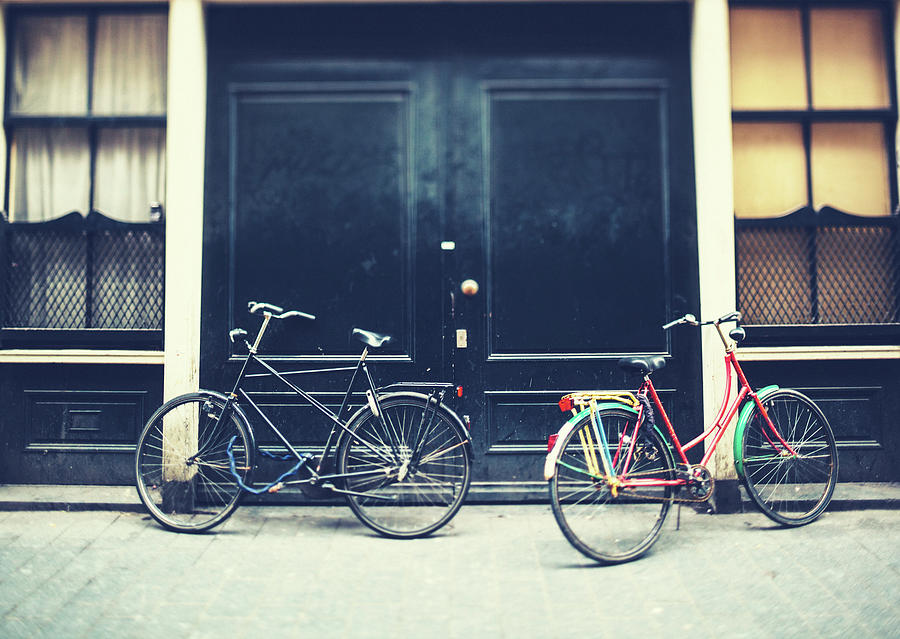 Bicycles In Amsterdam Photograph by Moreiso