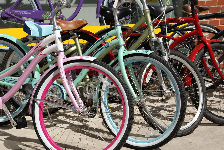 Bikes Photograph - Bicycles by Thomas Fouch