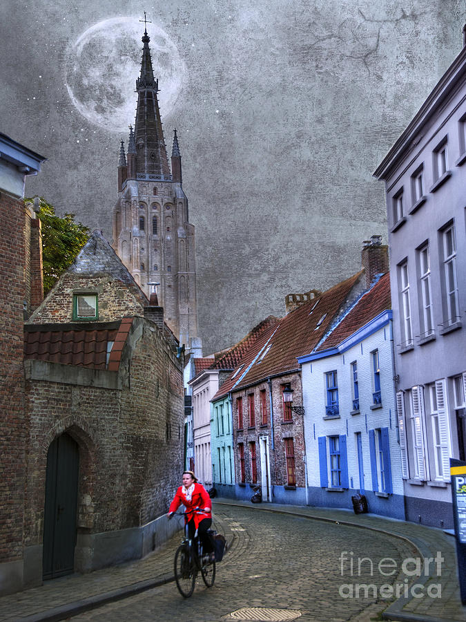 Activity Photograph - Bicycling Through Bruges by Juli Scalzi