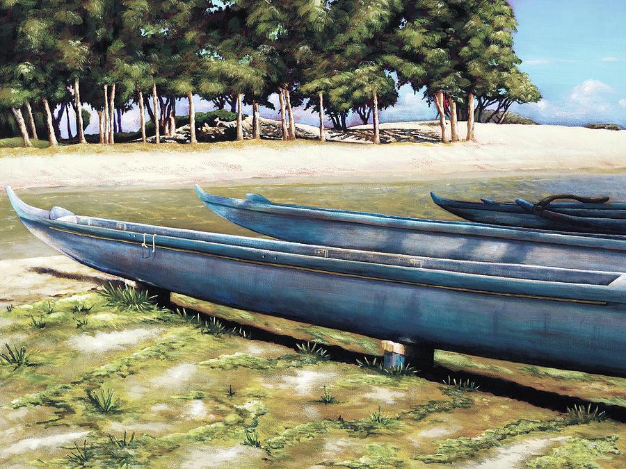 Acrylic Painting - Biding Time by Sandra Blazel - Printscapes