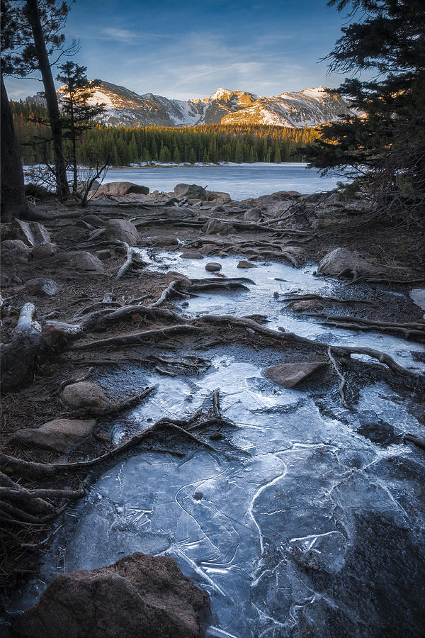 Bierstadt Lake Photograph - Bierstadt Lake Early Ice by Michael Van Beber