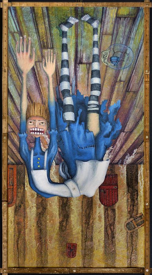 Alice Painting - Big Alice Little Door by Kelly Jade King