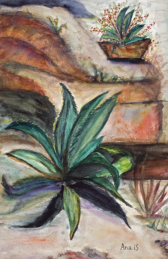 Aloe Painting - Big Aloe Maguey by Anais DelaVega