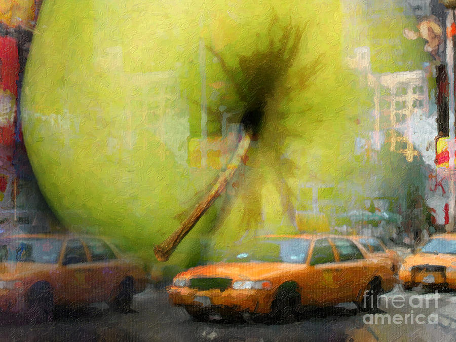 Cityscape Painting - Big Apple by Lutz Baar