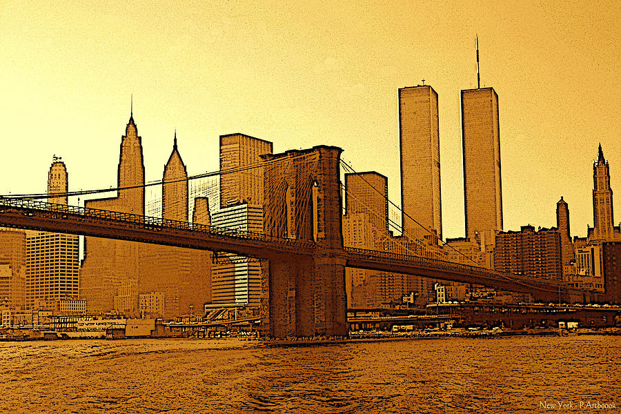New York City - Big Apple Sunrise Drawing by Peter Potter