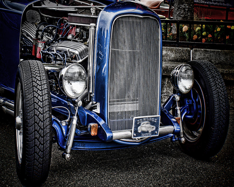 Blue Photograph - Big Bad Ford by Ron Roberts