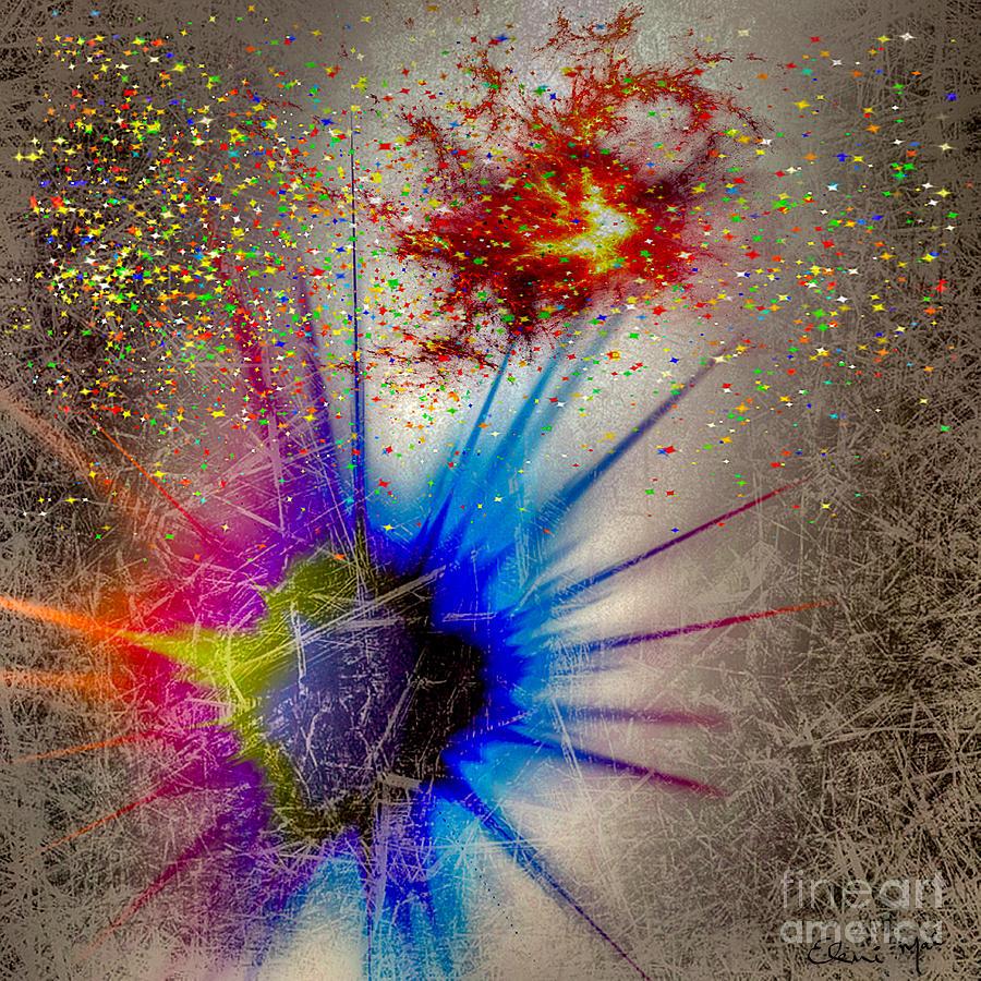 Abstract Digital Art - Big Bang by Eleni Mac Synodinos