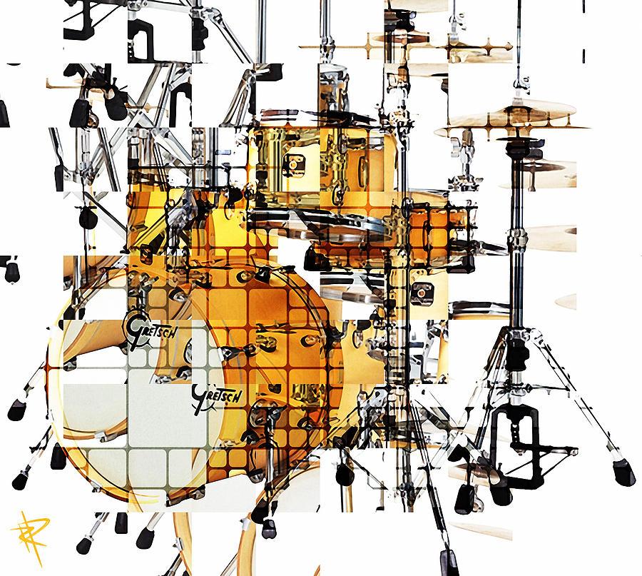 Drum Kit Mixed Media - Big Beats by Russell Pierce