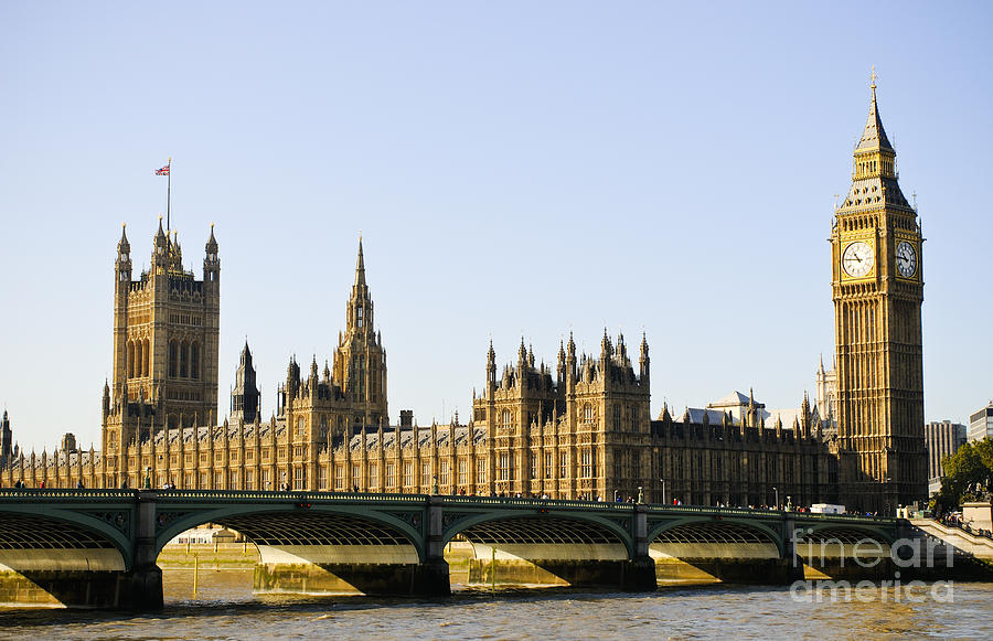 Big Ben Photograph - Big Ben And Houses Of Parliament by Lana Enderle