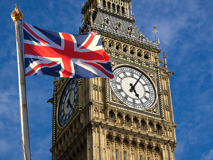 Fun Photograph - Big Ben And Union Jack by Neven Milinkovic