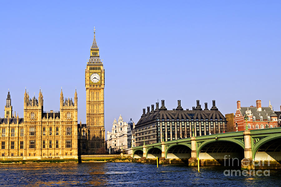 Big Photograph - Big Ben And Westminster Bridge by Elena Elisseeva