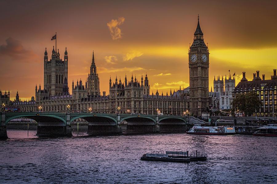 Big Ben At Sunset Photograph by Taken By David Pearce, London Uk.