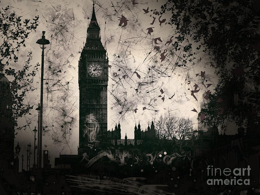 Big Ben Black and White by Marina McLain