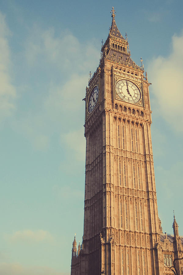 Big Ben Clock Tower Two Sides View Photograph by Sherif A. Wagih (s.wagih@hotmail.com)