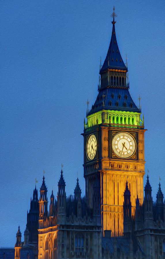 Big Ben London Digital Painting Photograph By Matthew Gibson