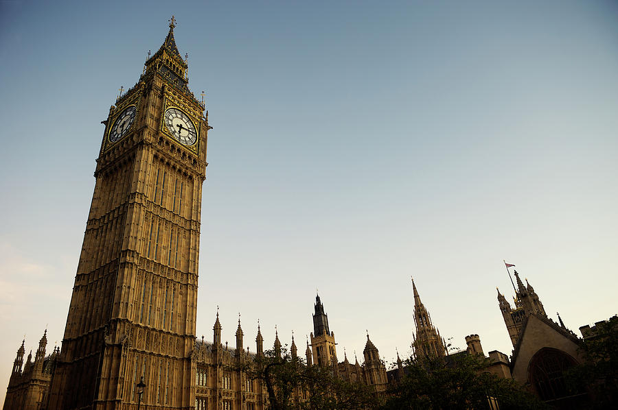 Big Ben London Evening Dusk View Photograph by Peskymonkey
